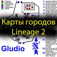 карта городов л2